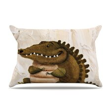 Smiley Crocodiley Pillow Case