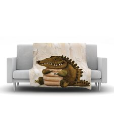 Smiley Crocodiley Throw Blanket