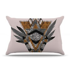 Indian Feather Pillow Case