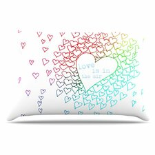 Rainbow Hearts Pillowcase