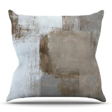 Calm and Neutral Outdoor Throw Pillow