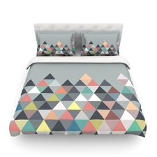 """Mareike Boehmer """"Nordic Combination"""" Gray Abstract Featherweight Duvet Cover"""