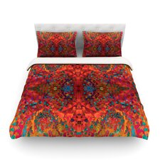 "Nikposium ""Red Sea"" Orange Abstract Featherweight Duvet Cover"