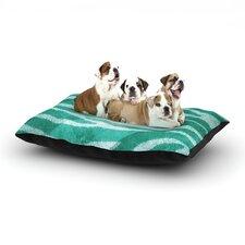 'Blue Zebra Print Texture' Dog Bed