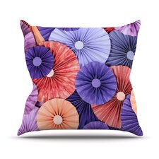 Raspberry Sherbert Outdoor Throw Pillow