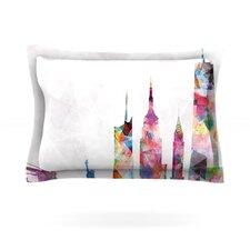 New York Rainbow City Cotton Pillow Sham