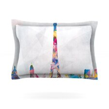 Paris City Rainbow Cotton Pillow Sham