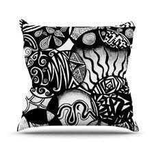 Circles and Life Outdoor Throw Pillow