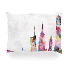 New York Rainbow City Outdoor Throw Pillow