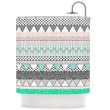 Chevron Motif Shower Curtain