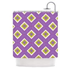 Purple Splash Tile Shower Curtain