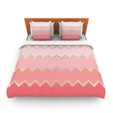 Avalon Coral Ombre by Monika Strigel Woven Duvet Cover