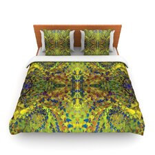 "Nikposium ""Yellow Jacket"" Green Abstract Featherweight Duvet Cover"