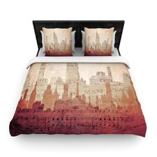 City by Alison Coxon Woven Duvet Cover
