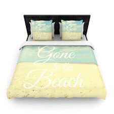 Gone To The Beach by Alison Coxon Woven Duvet Cover
