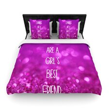 Sparkles are a Girls Best Friend by Beth Engel Woven Duvet Cover