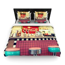 Retro Diner by Sylvia Cook Woven Duvet Cover
