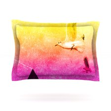 Seagulls in Shiny Sky by Frederic Levy-Hadida Pillow Sham