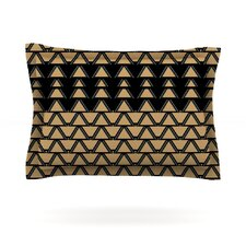 Deco Angles Gold Black by Nina May Pillow Sham