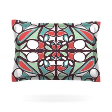 Brown Round Tiles by Miranda Mol Featherweight Pillow Sham