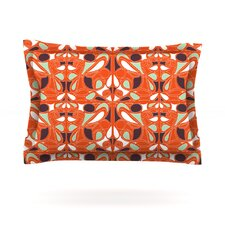 Orange Swirl Kiss by Miranda Mol Pillow Sham