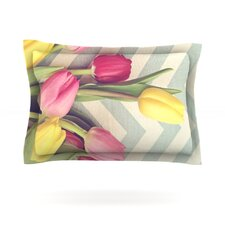 Tulips and Chevrons by Catherine McDonald Pillow Sham