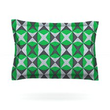 Silver and Green Abstract by Empire Ruhl Pillow Sham