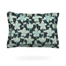 My Gray Spotted Flowers by Julia Grifol Featherweight Pillow Sham