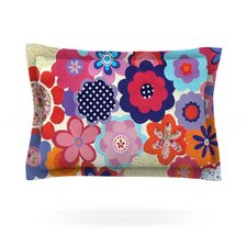 Patchwork Flowers by Louise Machado Pillow Sham