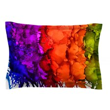 Rainbow Splatter by Claire Day Pillow Sham