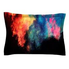 Rainbow Black by Caleb Troy Woven Pillow Sham