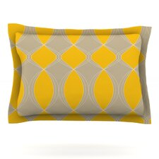 Geometries in Yellow by Julia Grifol Pillow Sham