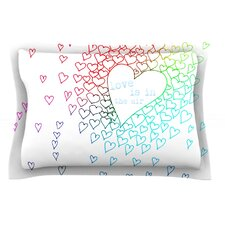 Rainbow Hearts by Monika Strigel Pillow Sham