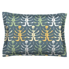 My Leaves on Blue by Julia Grifol Pillow Sham