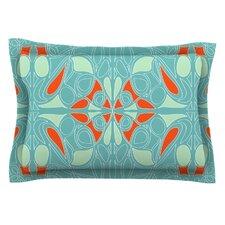 Seafoam and Orange by Miranda Mol Pillow Sham