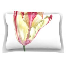 Red Tip Tulip by Lydia Martin Featherweight Pillow Sham