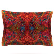 "Nikposium ""Red Sea"" Orange Abstract Featherweight Sham"