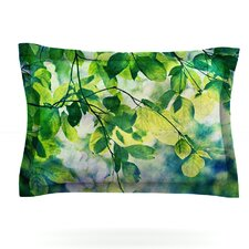 Leaves by Sylvia Cook Pillow Sham