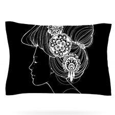 Organic Black by Jennie Penny Featherweight Pillow Sham