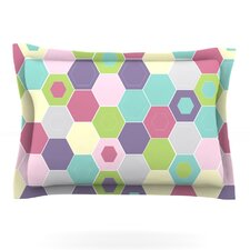 Pale Bee Hex. by Nicole Ketchum Featherweight Pillow Sham