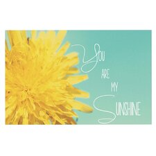 Deco You Are My Sunshine Flower Doormat