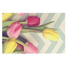 Tulips and Chevrons Doormat