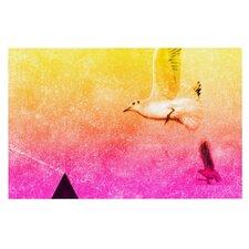 Seagulls in Shiny Sky Doormat