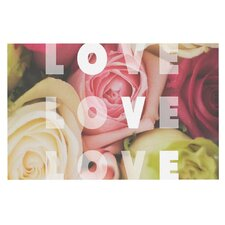 Love Love Love Roses Doormat