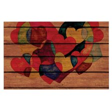 Wooden Heart Doormat