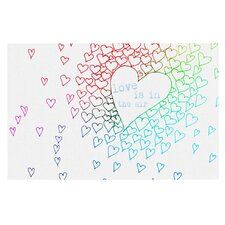 Rainbow Hearts Doormat