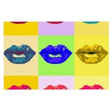 Deco Pop Kiss Rainbow Lips Doormat