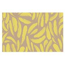 Yellow Feather Doormat