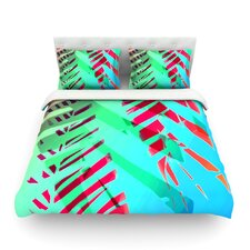 Cool Tropical by Alison Coxon Woven Duvet Cover