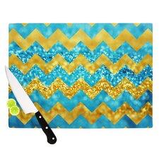 Blueberry Twist by Beth Engel Chevron Cutting Board